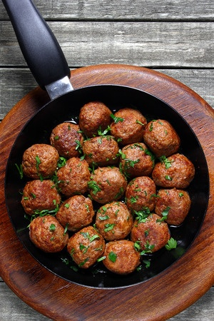 Greek fried meatballs